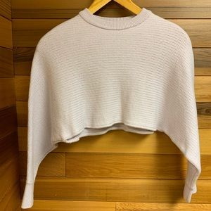 Aritzia Wilfred Free Lolan Merino Cropped Sweater